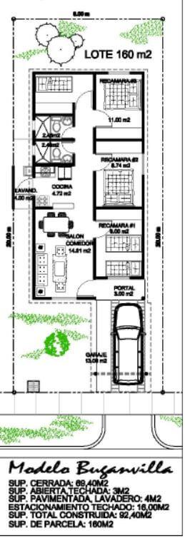 Barriadas en La Chorrera: Modelo Buganvilla Barriada Jardines de San Francisco
